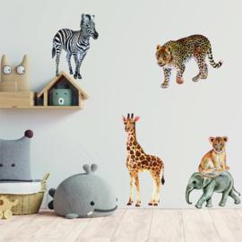 Muursticker jungle dieren set XL