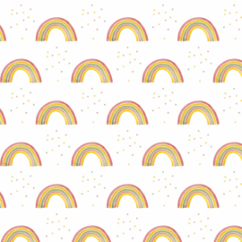 Behang - regenboog 1 motief / patroon