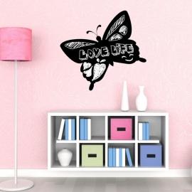 Muursticker vlinder krijtbord blackboard sticker