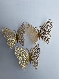 12 stuks gouden 3d vlinders muurdecoratie (8)