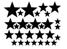 Muursticker sterren set (medium)