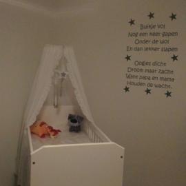 Babykamer muursticker tekst