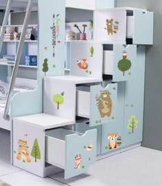 Muursticker bos dieren babykamer / kinderkamer