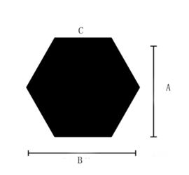 Spiegel hexagon vorm decoratie acryl muursticker  (goud)