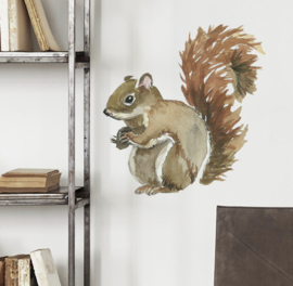 Muursticker  eekhoorn kinderkamer