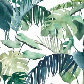 Behang - palm bladeren mix motief / patroon