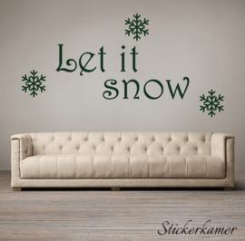 Let it snow sneeuwvlokken