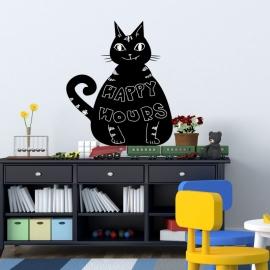 kat/poes krijtbord blackboard sticker