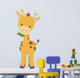 Muursticker giraffe XL babykamer