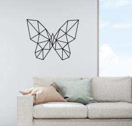 Muursticker vlinder geometrisch  design