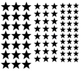 Muursticker sterren set mini