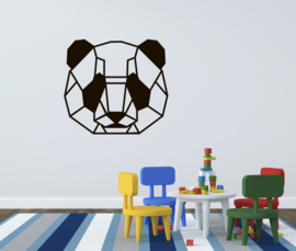 Muursticker panda geometrisch dier kinderkamer