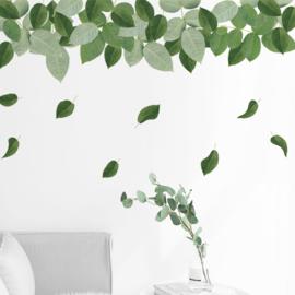 Muursticker natuur groene blaadjes stickers