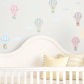 Muursticker luchtballonnen mini kinderkamer / babykamer