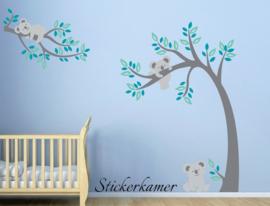Muursticker boom en tak met koala's babykamer