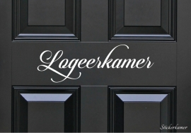 Decoratiesticker logeerkamer