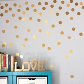 Muursticker stippen goud / polka dots babykamer
