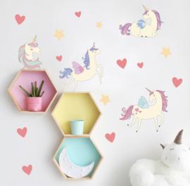 Muursticker unicorn mini stickers kinderkamer / babykamer