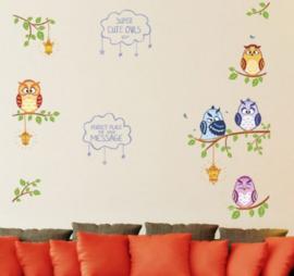 Muursticker uilen kinderkamer wand decoratie