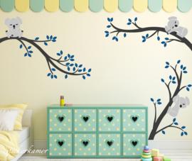 Branches Sticker mural avec salle koalas garçons