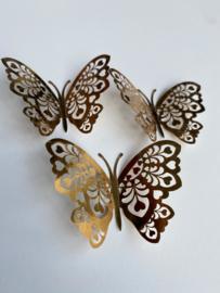 12 stuks gouden 3d vlinders muurdecoratie (9)