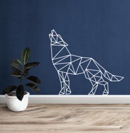 Muursticker wolf geometrisch  design