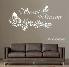 Muursticker sweet dreams vlinder