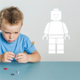 Lego poppetje muursticker kinderkamer lego man