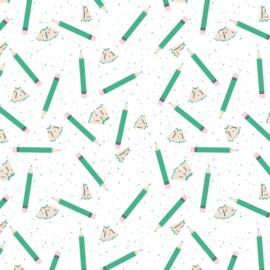 Behang - potlood motief / patroon