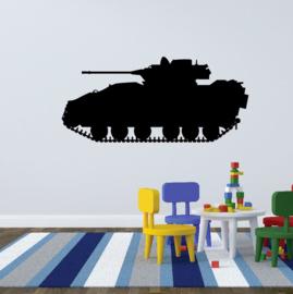 Muursticker leger tank wagen voertuig kinderkamer
