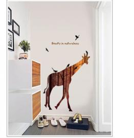 Muursticker giraffe afrika kinderkamer