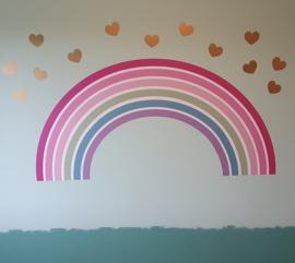 Muursticker regenboog kinderkamer