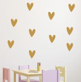 Muursticker hartjes print / patroon babykamer 2