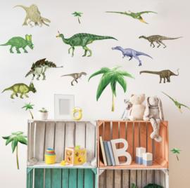 Muurstickers kinderkamer dinosaurus mix kinderkamer