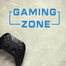Muursticker gaming zone met kader kinderkamer jongen