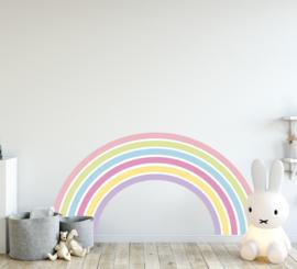 Muursticker regenboog unicorn stijl kinderkamer