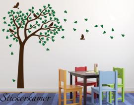 Muursticker boom baby kinderkamer vogels