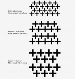 Muursticker plusjes print / patroon kinderkamer