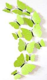 Kleurrijke 3D vlinders groen