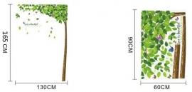 Muursticker boom met vallende blaadjes