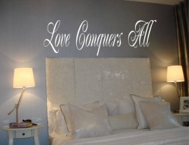 Love conquers all. Muursticker / Interieursticker