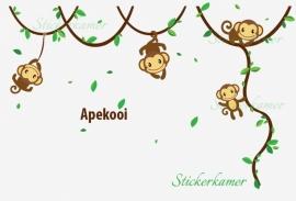 slingerende apen op lianen