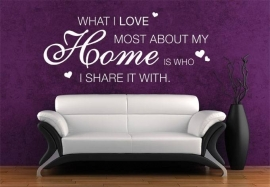 What i love most about my home is..