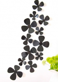 3D bloemen zwart