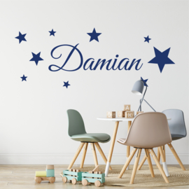 Muursticker naam met  sterren babykamer / kinderkamer