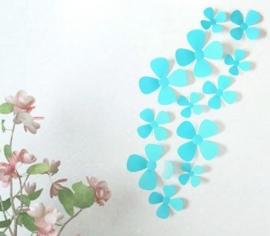 3D bloemen licht blauw
