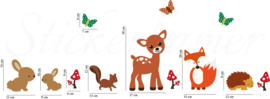 Muursticker bos dieren