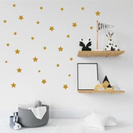 Muurstickers sterren goud 25 stuks