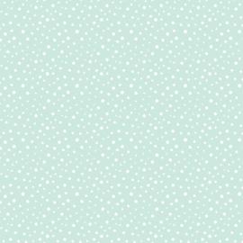 Behang - stippen - mint motief / patroon