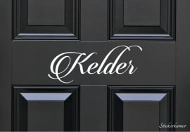 Decoratiesticker kelder